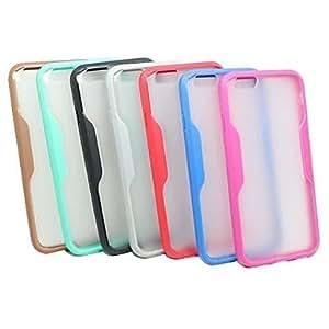 PEACH Bicolor Design TPU Soft Transparent Case for iPhone 6(Assorted Colors) , Blue