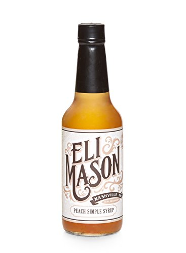 Cocktail Peach (Peach Simple Syrup - Cocktail Syrup Mixer Bottle with Fresh Peaches and Natural Cane Sugar - Quick, Easy & USA Made in Nashville by Eli Mason)