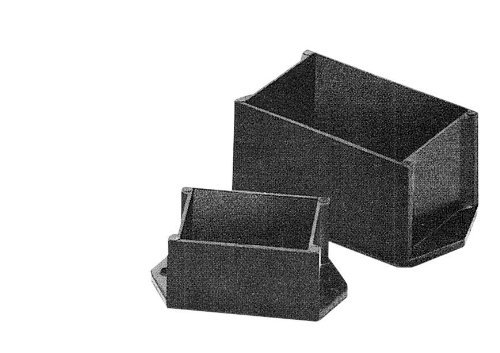 BUD Industries PB-1576-BF ABS Plastic Style C Potting Box 3 Length x 3 Width x 1-1//2 Height Smooth Black Finish