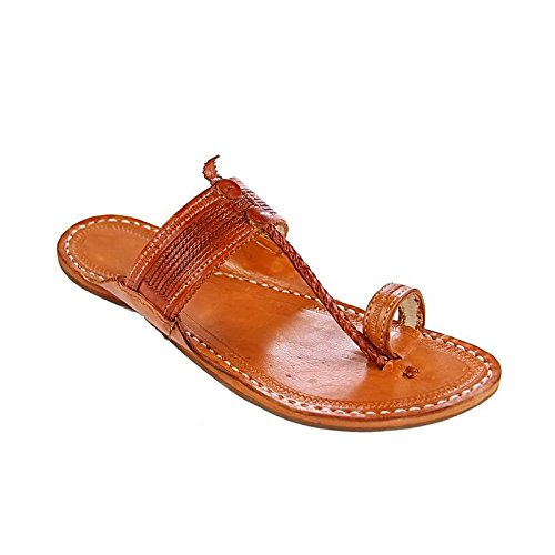 KOLHAPURI CHAPPAL Original Gorgeous Brown kapshi Men Slipper Sandal