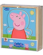 Eichhorn 109265707 Peppa Pig Verkleedpuzzel, verschillende kledingstukken om te veranderen, kleurrijk, puzzel van FSC-gecertificeerd hout, 14-delig, 4 x 13 x 14 cm groot, vanaf twee jaar