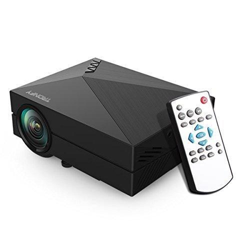 Mini Tragbarer Beamer Projektor Tronfy Micro Video Projektor fuer Heimkino Videospiele Film Gaming mit 800x480 Aufloesung Kontrast 1000:1 Unterstuetzung HDMI USB AV SD VGA Zugaenge