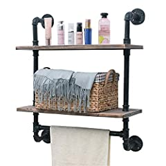 "Heavy duty shelves,Hand-forged, Retro style. DIY design,Storage and hanging,Practical and decorative. This product meets your requirements for different scenarios.Specifications -Material : Iron & wood -Size :Length24"" x Height29.13"" x De..."
