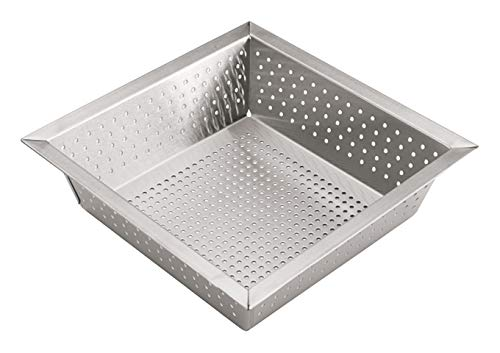 Winco FDS-1010, 10''L x 10''W x 2-5/8''H Stainless Steel Commercial Perforated Floor Drain Strainer