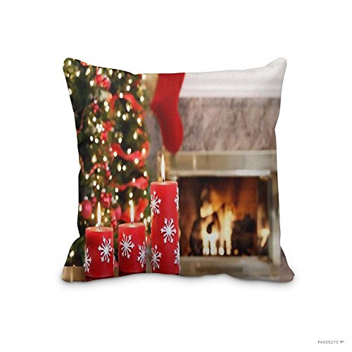 Christmas No-1831 Throw pillow Case Christmas Decorative Throw Pillow Cover Home Decorative Cute Cabin Cushion Cover 18x18inch (Two - Watch Online Night Falls Before