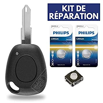 iRace Keys: carcasa de llave telemando para RENAULT Megane ...