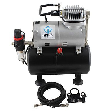 WST 2-Airbrush Air Tank Dual Action Airbrush Spray Compressor Kit 0.3mm & 0.35mm for Cake Decoration 110V,220V , 110v by ZHUQUE (Image #4)