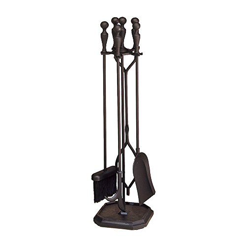 - Minuteman International Plymouth  5-piece Fireplace Tool Set, Square Base