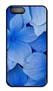 Blue Hydrangea Blossoms Cover Case Skin For SamSung Galaxy S4 Phone Case Cover Hard PC Black Kimberly Kurzendoerfer