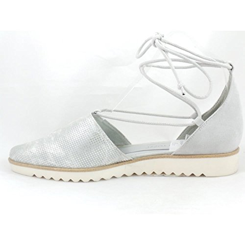 Silver - Zapatos de cordones para mujer plateado plata