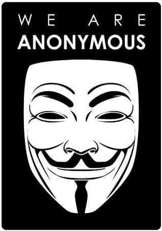 Amazon.com: RDW We are Anonymous Sticker Premium Decal Die Cut Hacker Group Internet: Automotive