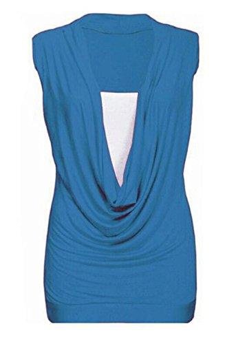 biHo - Camiseta sin mangas - para mujer turquesa