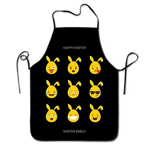 Pattern Apron Burlap Polyester Women Hoppy Easter Bunny