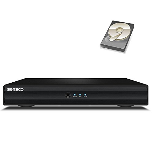 SANSCO 4 Channel 1080N Standalone CCTV DVR Recorder with 1TB HDD, 5-IN-1...