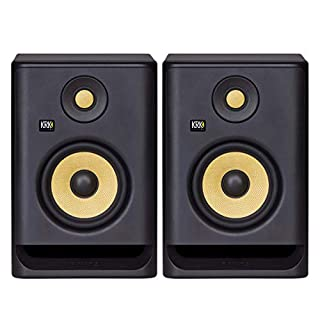 "KRK RP5 Rokit 5 G4 Professional Bi-Amp 5"" Powered Studio Monitor Pair, Black (B07YZP99W3) 