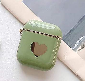 Funda para AirPods caso AirPod cubierta Pieles, For la caja protectora de Apple AirPods medio Generación universal galvanoplastia Amor Bluetooth for auriculares, Choque caso de la cubierta protectora: Amazon.es: Electrónica