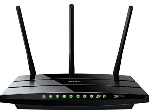 TP-LINK Archer C7 AC1750 Dual Band Wireless AC Gigabit Router, 2.4GHz 450Mbps+5Ghz 1300Mbps, 2 USB Port, IPv6, Guest Network (Certified Refurbished)