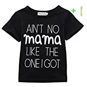 AIN'T No Mama Like the One I Got Funny Baby T-Shirt Short Sleeve Tops (18-24 Months, Black)