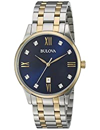 Bulova Mens 98D130 Dress Blue Dial Watch
