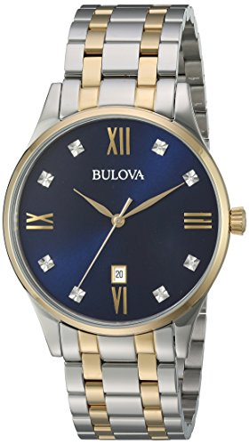 Bulova Men's Quartz Stainless Steel Dress Watch, Color: Two Tone (Model: 98D130) -