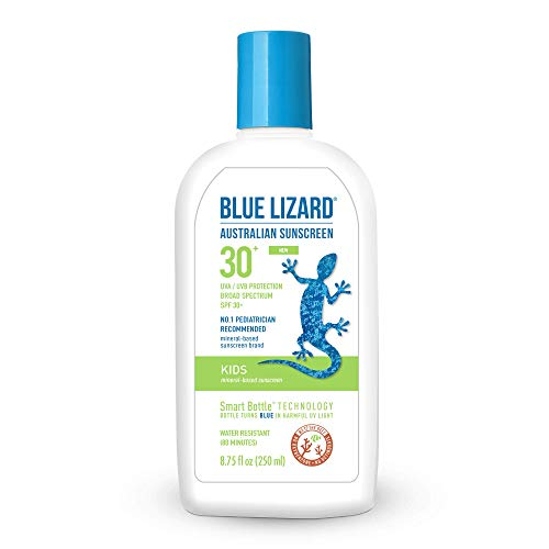 Blue Lizard Australian Sunscreen - Kids Sunscreen, SPF 30+ Broad Spectrum UVA/UVB Protection - 8.75 oz. Bottle