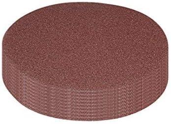 10Pcs 7-inch hook and loop sanding disc 40 grained sandpaper for random orbit sander Brown