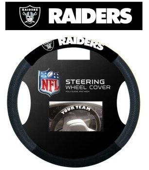 Oakland Raiders Mesh Steering Wheel Cover Fremont Die 2324598504