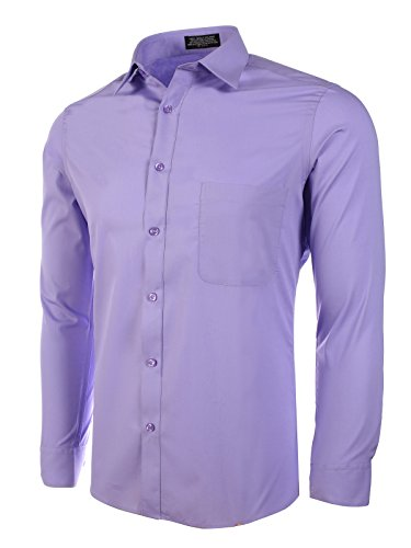 Marquis Slim Fit Dress Shirt - Violet,Medium 15-15.5 Neck 32/33 Sleeve