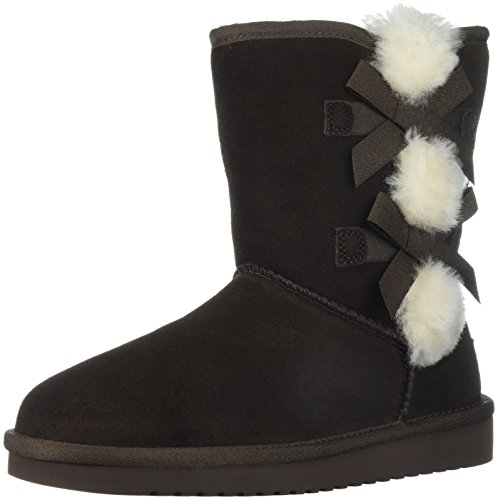 Koolaburra by UGG Women's Victoria Short Fashion Boot, Chocolate Brown, 09 M US by