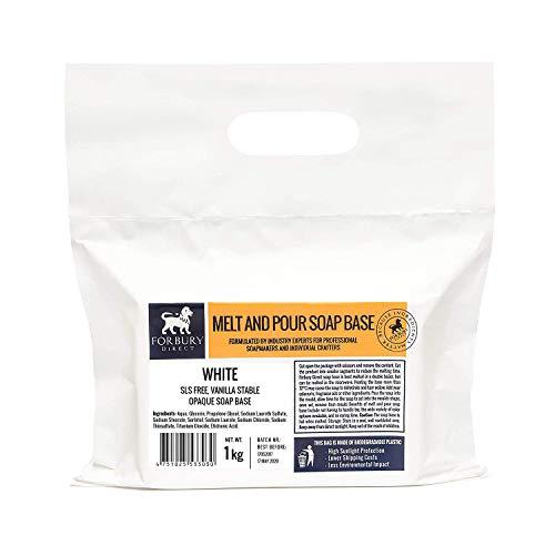 Base Jabón de glicerina, blanco sin SLS, 1kg Forbury Direct: Amazon.es: Hogar
