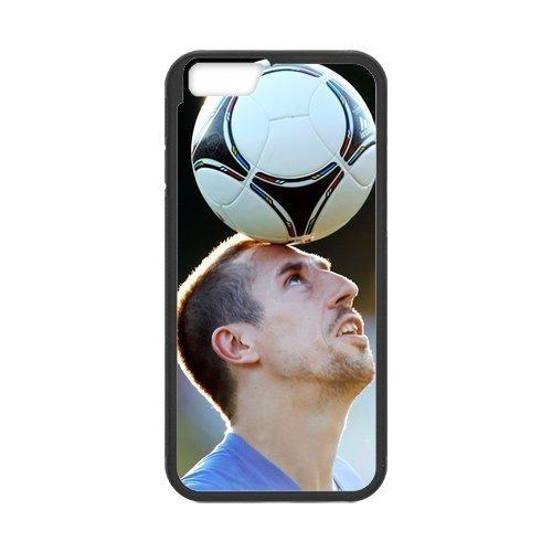 Artswow Franck Ribery French International Footballer Custom Plastic TPU Cell Phone Case for iPhone 6 4.7 Inch