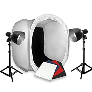 PBL Photo Table Top Tent 30in New Hi-Output Bulbs 400 Watts