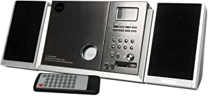 CMX DMS 7660 - Minicadena (Reproductor de MP3 y CD, radio, entrada auxiliar, USB, ranura para tarjetas SD), Negro (importado)