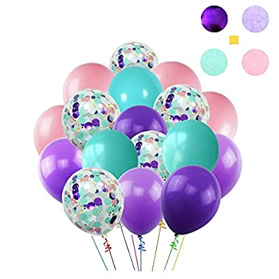 Elepplrty Mermaid Balloon Garland- for Girl Birthday Party Decorations Mermaid Ocean Theme Party Supplies,Baby Shower: Toys & Games