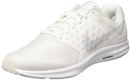 c2642bf4d96d0 NIKE Men s Downshifter 7 Running Shoes White Pure Platinum 8. 5 D(M) US   Buy Online at Low Prices in India - Amazon.in