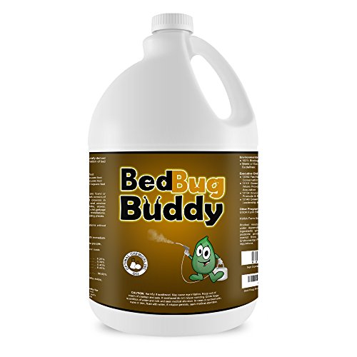 (Bed Bug Killer & Prevention Spray By Bed Bug Buddy - Natural Bed Bug Spray Used By Professionals & Certified By AAES and Pesticide Exempt By EPA - Child Safe & Pet Safe - 1 Gallon)