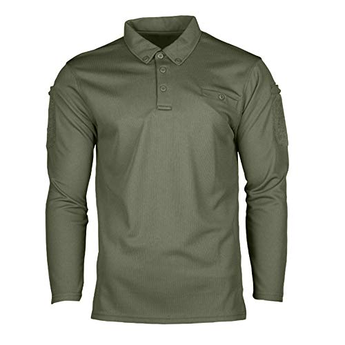 (Mil-Tec Long Sleeve Quick Dry Tactical Shirt (Large, Olive Drab))