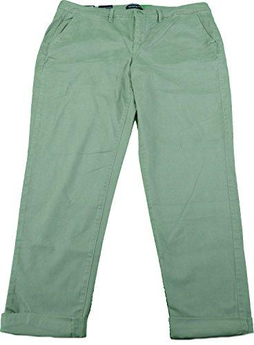 Bandolino Jeans Ladies Felicia Style Slim Leg Roll Cuff Pants Limestone Green (4) (Bandolino Womens Roll)