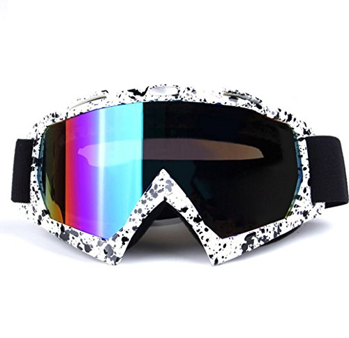 Wonzone Windproof Dustproof Skiing Snow Ski Goggles Anti-fog Motorcycle Cross country Riding Cycling Sunglasses Mountaineering Protective Eyewear - Sunglasses Mountaineering