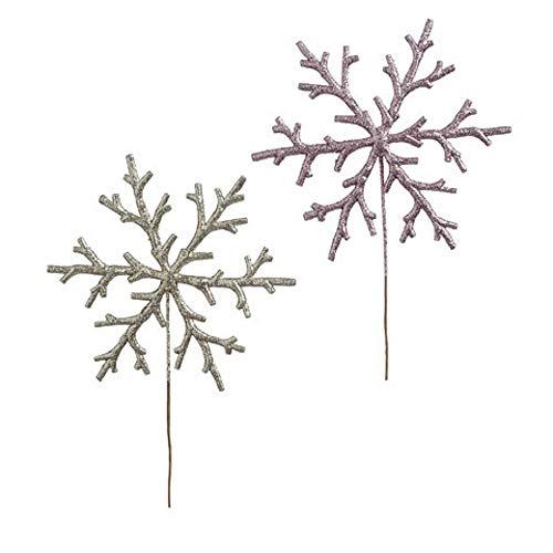Snowflake Pick - Darice Glitter Snowflake Pick: 7.75 X 11