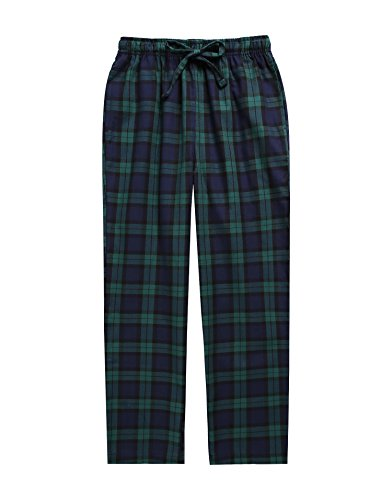 TINFL Boys Plaid Check Soft 100% Cotton Lounge Pants BLP-SB004-Green-XL