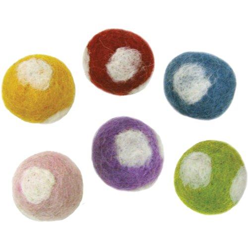 Dimensions Felt Embellishments, Polka Dot Balls (Felt Felting Thread)