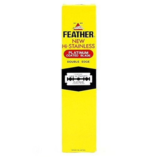 100 Feather Razor Blades NEW Hi-stainless Double Edge by ...