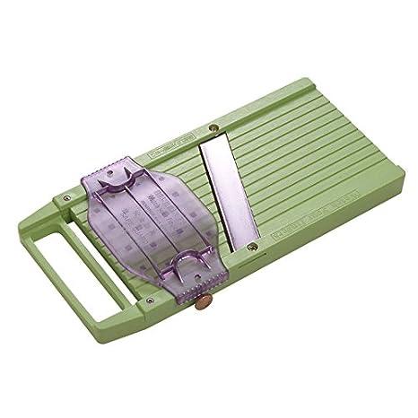 Amazon.com: Benriner Mandolina de plástico verde con ...