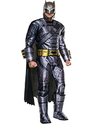 Rubie's Men's Batman v Superman: Dawn of Justice Deluxe Batman Armored Costume, Multi, (Batman Halloween Costumes For Men)