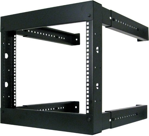 8U Open Wall Mount Frame Rack - Adjustable Depth 18