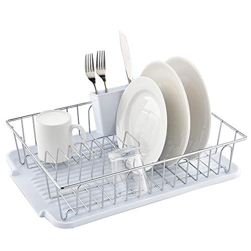 Ikebana Commercial Chrome Wire Small Dish Drying Rack, Kitch