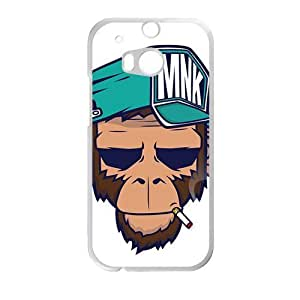 Personalized Creative Cell Phone Case For HTC M8,funny monkey with cap and smoke