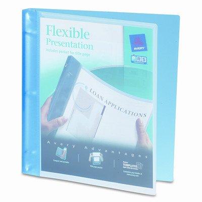 Flexible Round Ring Presentation Binder, 1/2