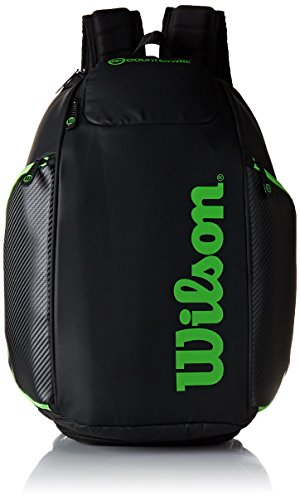 (Wilson Blade Collection Racket Backpack, Black/Green)